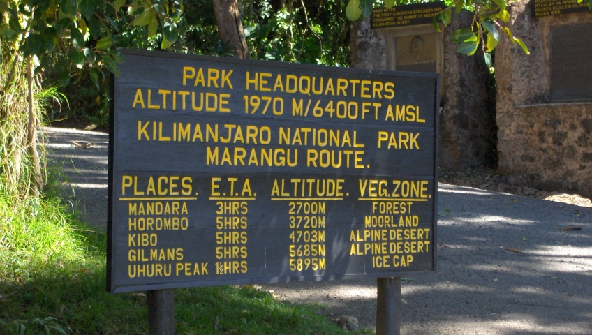 Park Headquarters Marangu Gate